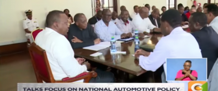 Uhuru Meets Local Vehicle Dealers in Mombasa